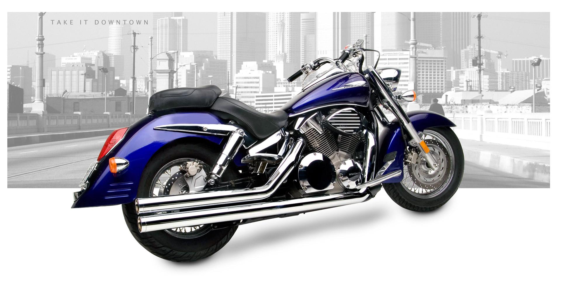 Honda VTX1300C 200409 Motorcycle Exhaust  HardKrome