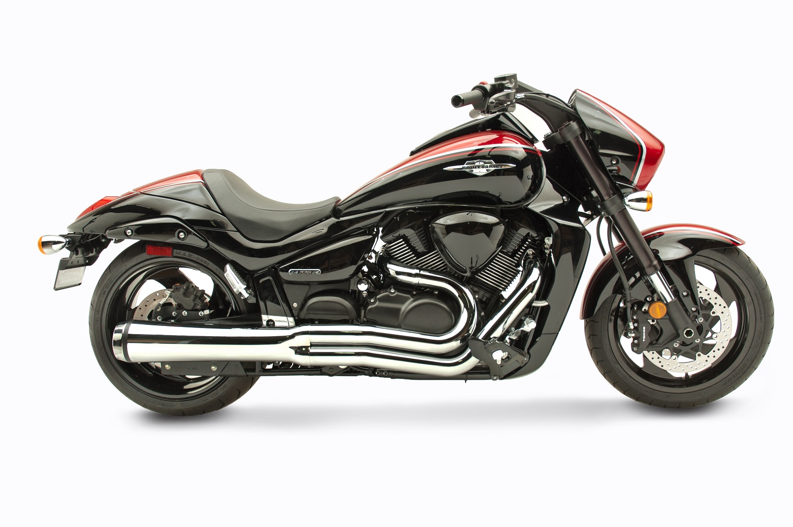 Suzuki M109R Motorcycle Exhaust - Velocity Pro Chrome | Hard-Krome
