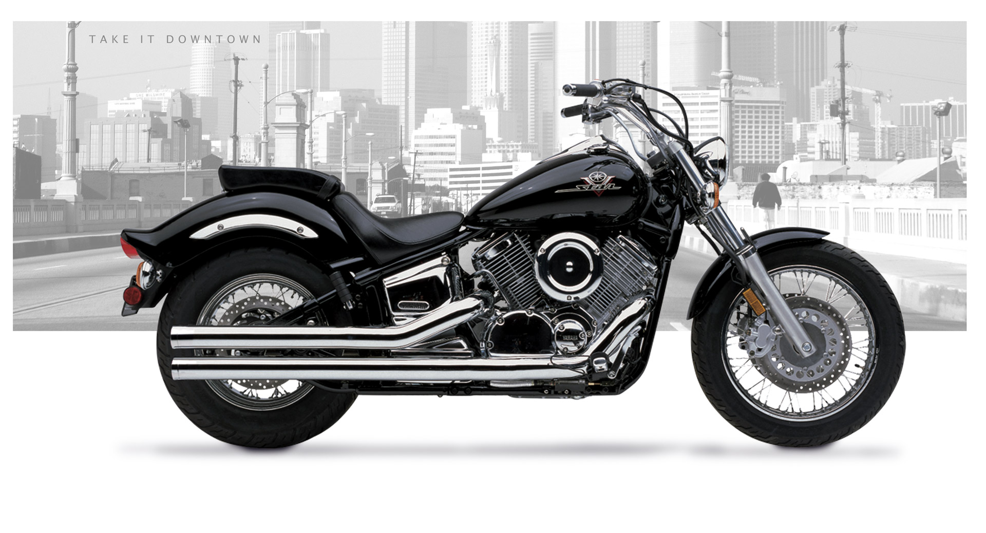 Yamaha V Star 1100 1999-09 Motorcycle Exhaust | Hard-Krome