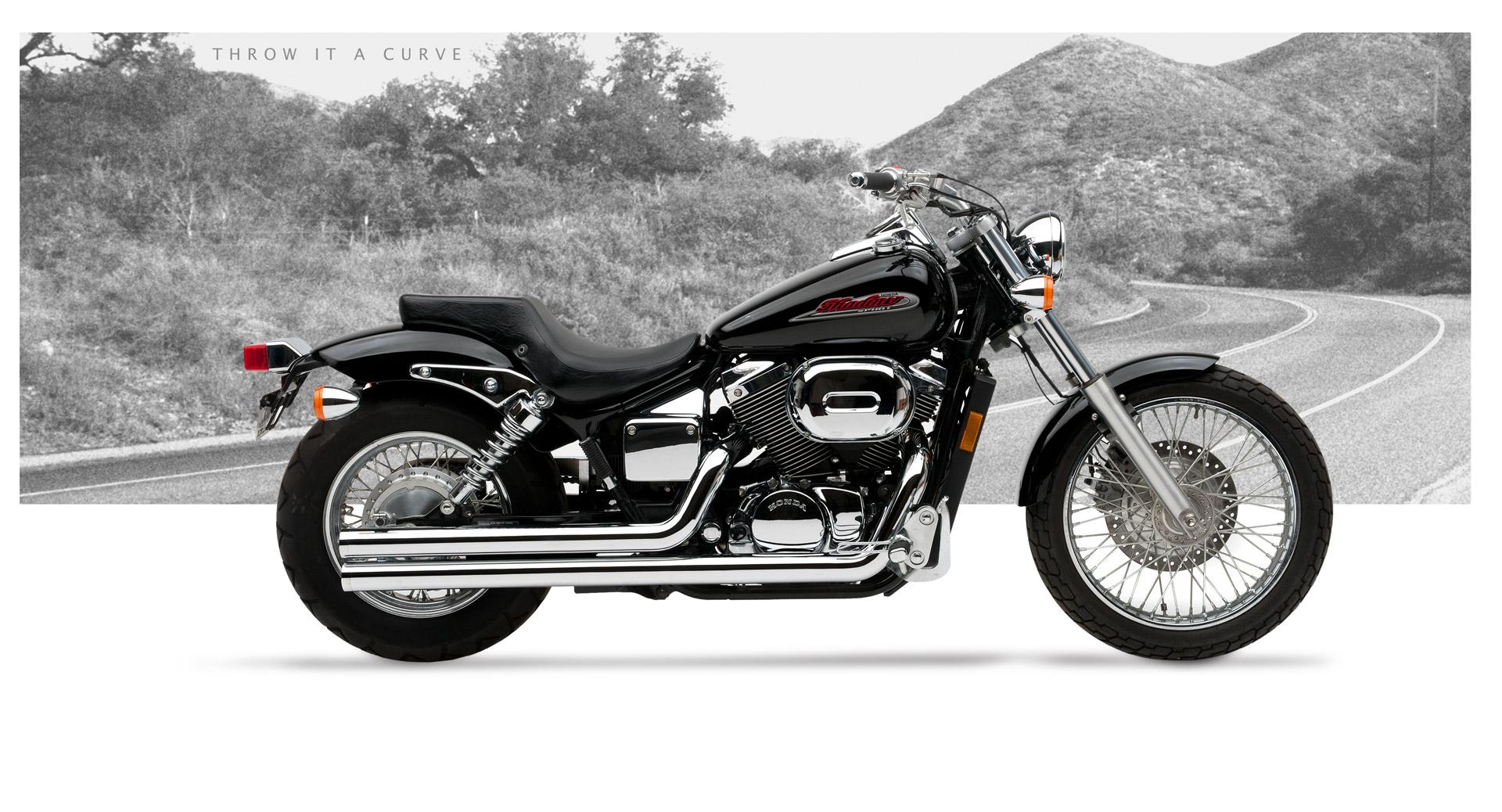 Honda vt 750dc shadow spirit motorcycle exhaust american classic ii