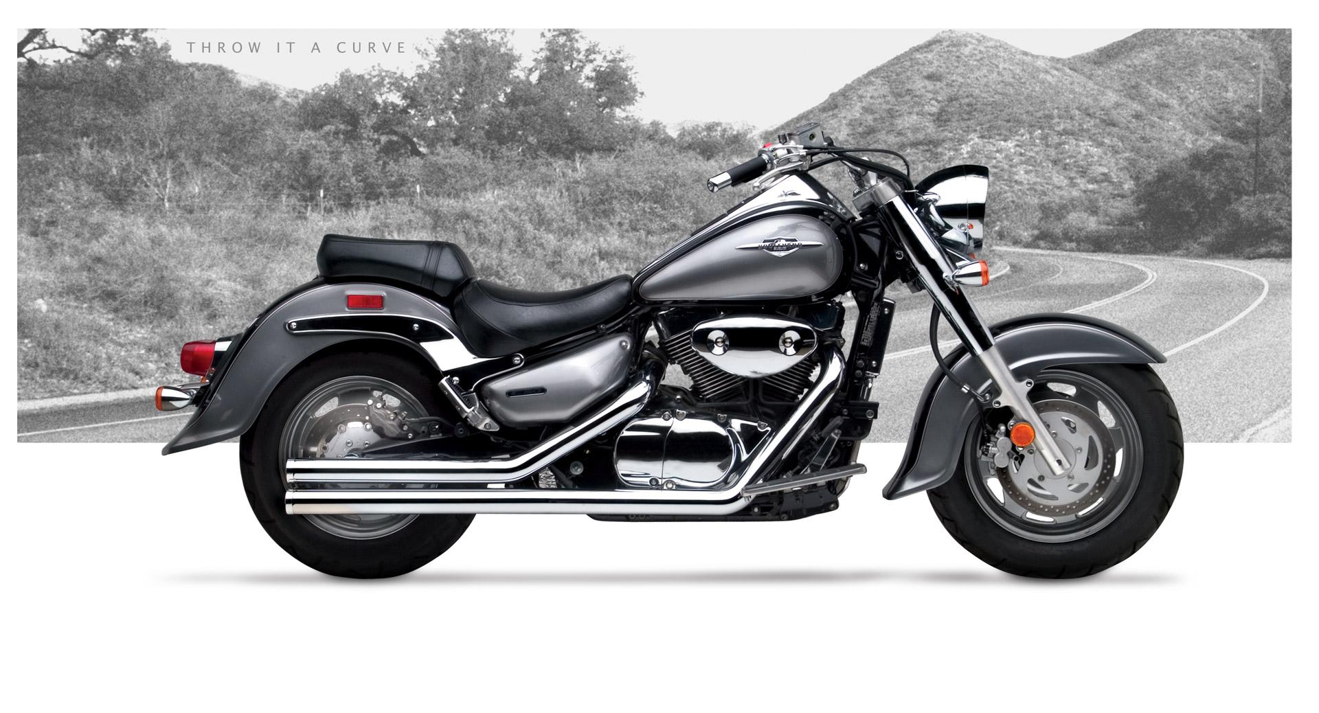 suzuki intruder vl1500 motorcycle exhaust american classic ii 1998 Suzuki VL1500 suzuki intruder vl1500 1998 04 hard krome american classic ii