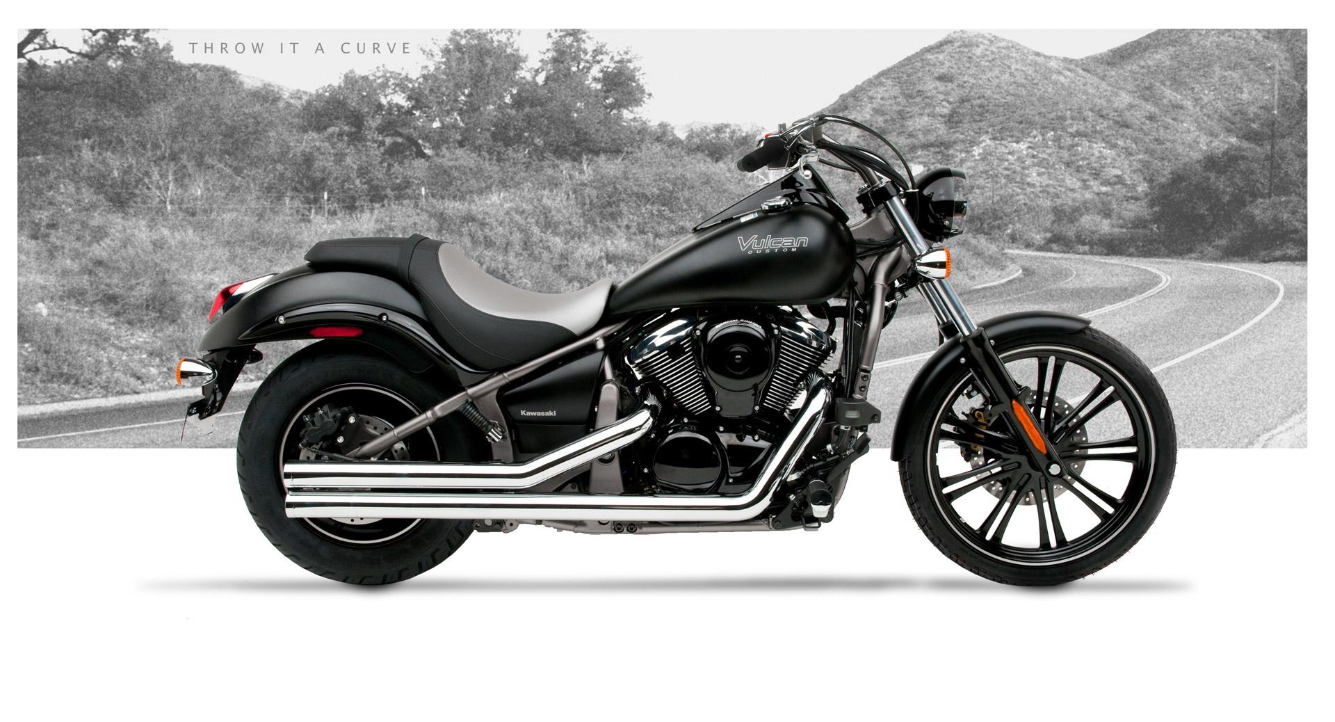 Kawasaki Vulcan 900 Custom Motorcycle Exhaust - American