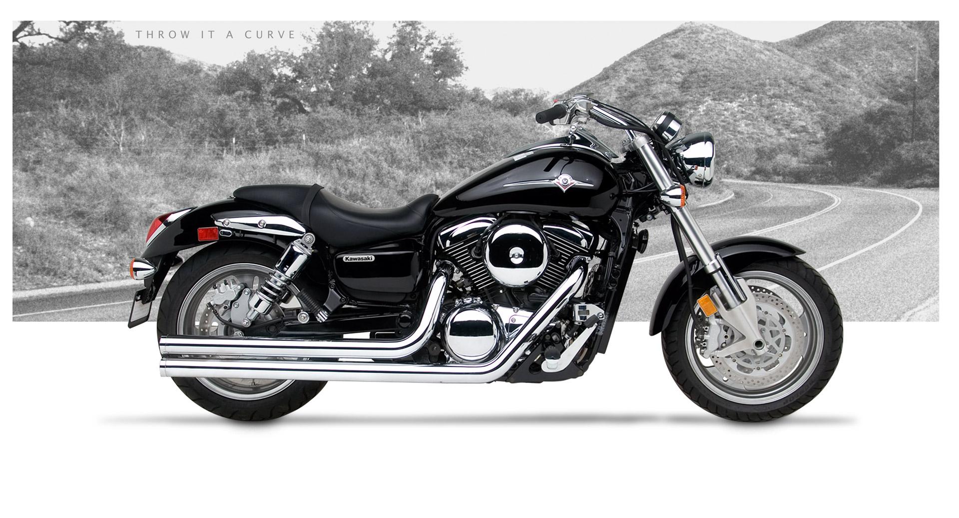 Kawasaki Vulcan 1600B Mean Streak 2004-08 Motorcycle Exhaust | Hard ...